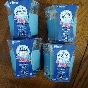 Glade Blue Odyssey candles lot of 4